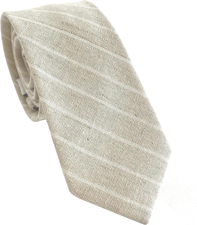 THOM Ties for Men - Mens Ties Solid Colors - Skinny Tie