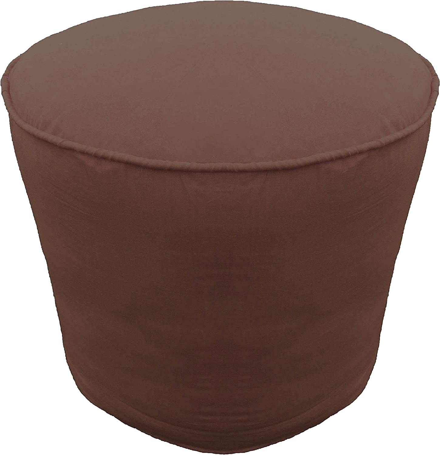 Columbus Mall Ottoman Max 43% OFF Footstool Cover Cotton Round Pouf with Piping Brow