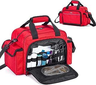 کیف پرستار بهداشت خانگی Trunab خالی ، لوازم پزشکی قابل حمل کیف شانه برای خانه ، ویزیت در منزل ، دانشجویان پرستاری ، قرمز ، فقط کیف