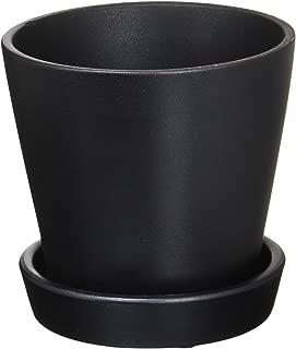 GREENHOUSE シンプルベース 皿付き 3042-BK ブラック