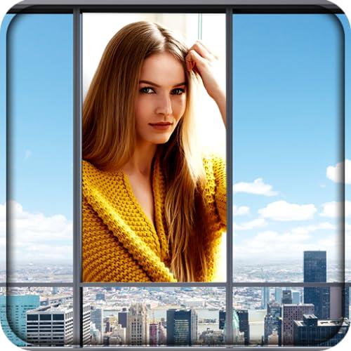 Fenster Selfie Bilderrahmen