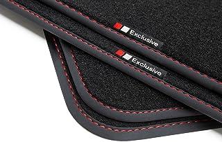 teileplus24 EF101 Exclusive-Line Tapis de Sol Haut de Gamme Couture:Rouge