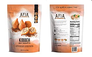 Frozen Bite Size Kibbeh - Pack of 10 Bags (80 count Kibbehs) - Just Heat and Eat! Halal, Nut Free