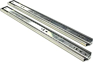 Berta, Full Extension, Push to Open, Ball Bearing, 20 Inch 100Lb Load Rating, Side Mount Drawer Slides (15 Pairs)