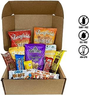 Vegan Seasonal Assorted Snack Box- Rich Chocolate Bars, Smoky Jerky, Candy, Nacho Chips, Cheddarish Crackers, and more! 100% VEGAN AND NON GMO. - VeganWorks - (12 ct.)