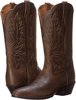 b4c3f3e6fd7 Ariat heritage western j toe distressed brown | Shipped Free at Zappos