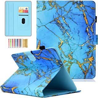 APOLL 10 Inch Universal Tablet Case,Premium PU Leather Magnetic Closure Case Anti-Slip Multi-Angle Stand Wallet Cover for ...