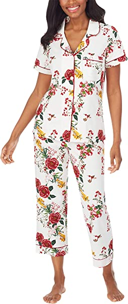 Short Sleeve Cropped PJ Set (Cotton Spandex)