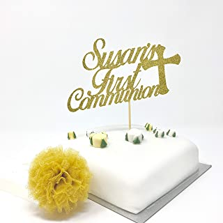 Personalised First Communion Cake Topper, Baptism, Communion Cake Topper, 1st Confirmation Custom Cake Topper, Baptism Topper with Name