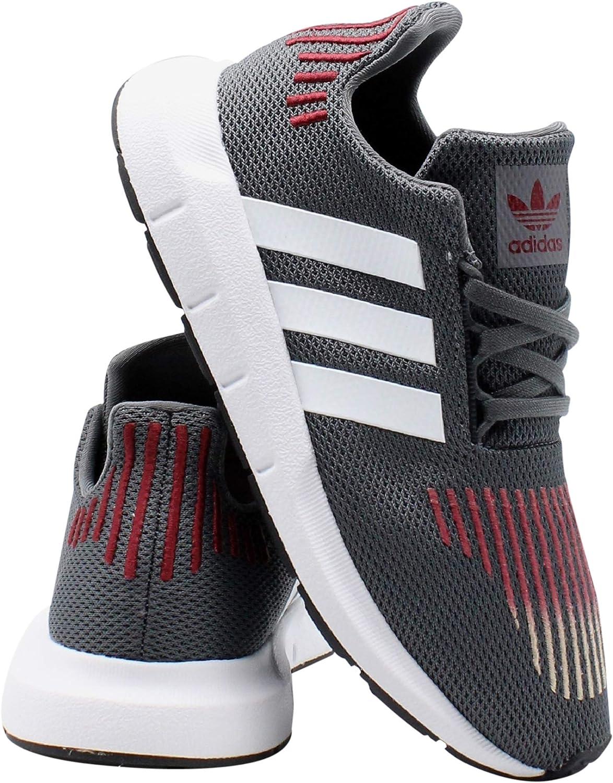 adidas Kids Swift Run Sneaker (Little Kid),Grey,3