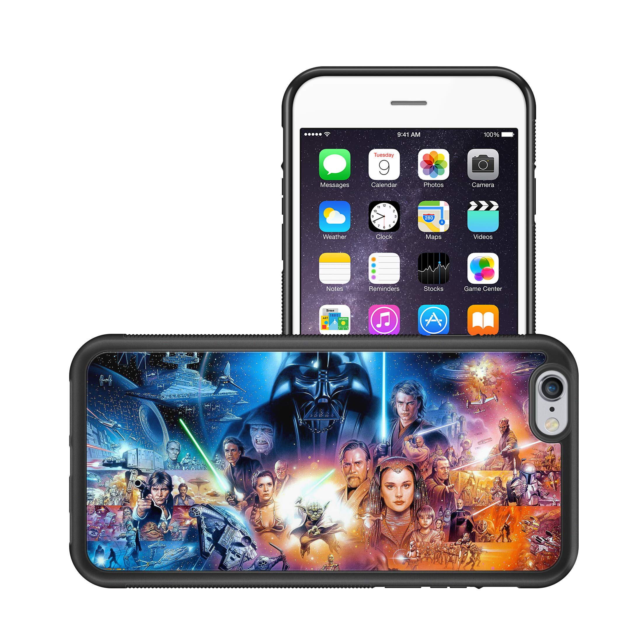 Amazon Com Modifiedcases Action Characters Wallpaper Star Wars Bumper Case Compatible With Apple Iphone 6 6s