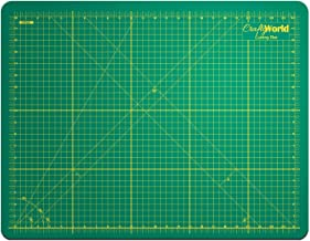 Crafty World Deluxe Cutting Mats - Double Sided Used by Pro Hobbyists - Self Healing Cutting Mat - Doesn't Slip, Extra Long Lasting & Easy to Read Markings - 18 x 24 Inches