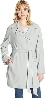 7 For All Mankind Women's Asymmetrical Fashion Drape Trench