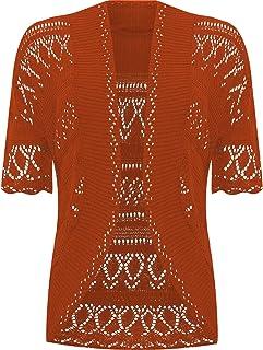 a322a4aa98d107 Aramoniat Womens Ladies Knitted Open Front Bolero Crochet Cardigan Shrug  Summer Sun top