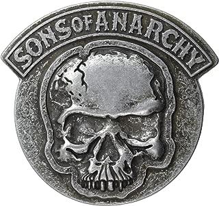 Sons of Anarchy Men's Embossed Gun Metal Skull Belt Buckle