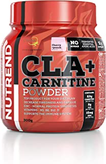 Nutrend CLA + Carnitine Cherry + Punch 300g for your Weight Loss plan – instant drink without sugar and preservatives, which lowers physical and mental tiredness vitamines B5, B6, B12 and D