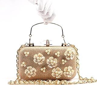 Diamond Yanbao Pearl Flower Ring Package Bag Petal Evening Bag Bride Hand Hand Carry Bag