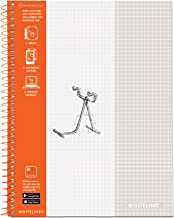 Roaring Spring Whitelines Premium 5×5 Graph Ruled Spiral Notebook, Digitally..