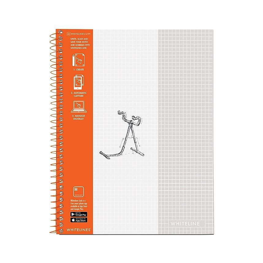 Whitelines Wirebound Notebook