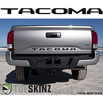TufSkinz | Tailgate Inserts Compatible with 2016-Up Tacoma - 6 Piece Kit (Domed (Raised 4mm), Matte Black)…