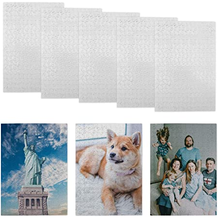 10 Packs Jigsaw Puzzles 300 Pieces Sublimation Blanks Puzzles DIY Puzzle Blank Custom Puzzle for Heat Transfer 15.6X10.5 inches