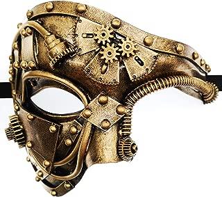 Mechanical Men Venetian Mask for Masquerade Steam Punk Phantom of The Opera Vintage/Mardi Gras/Halloween/Party/Ball Prom