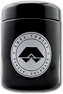 Dope Turtle - HALF SHELL: Premium UV Protected Storage Jar and Smell Proof Herb Container (250ml) (White Seal)