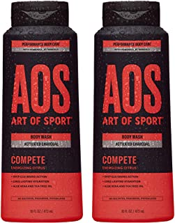 Art of Sport Activated Charcoal Body Wash for Men (2-Pack) - Compete Scent - Energizing Citrus Fragrance - ...