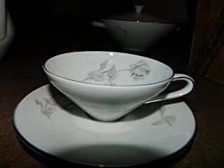 HUTSCHENREUTHER Bavaria Germany CUP & SAUCER - Gray Rose China Pattern 31149/4