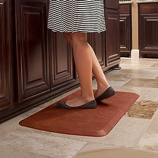"GelPro Elite Premier Gel & Foam Anti-Fatigue Kitchen Floor Comfort Mat, 20"" x 36"", Basketweave Chestnut"