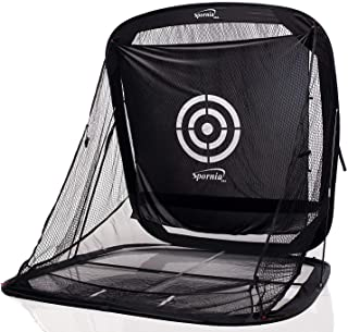 Spornia Spg-7 Golf Practice Net – Automatic Ball Return System w/Target Sheet, Two..