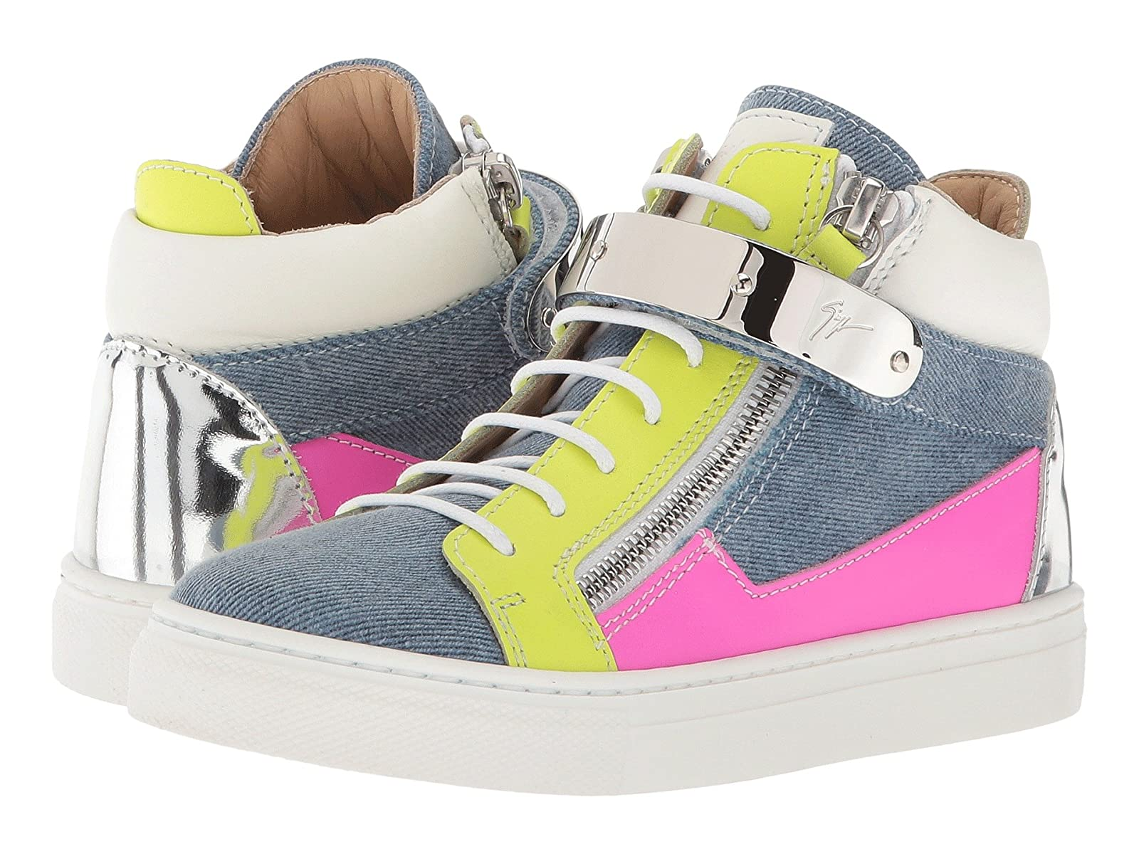 Giuseppe Zanotti Kids Ares Denim Sneaker (Toddler/Little Kid)Cheap and distinctive eye-catching shoes