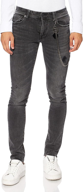 Armani Exchange Skinny Dark Grey Wash with Chain Jeans para Hombre