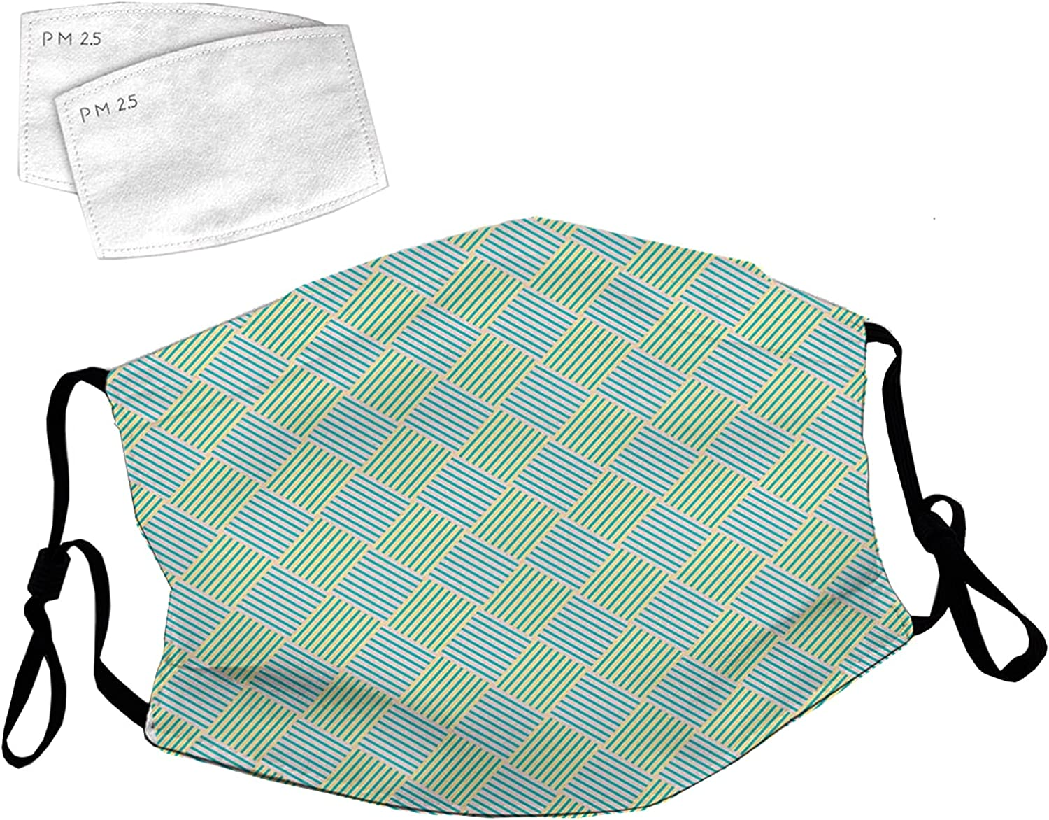New Orleans Mall Reusable Face Mask with Adjustable Loops Sale Ear Diagonally Striped