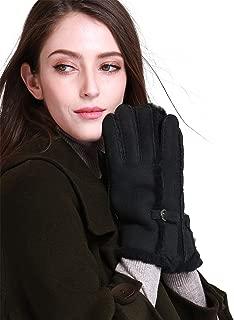 Women's Merino Rugged Lambskin Shearling Leather Gloves