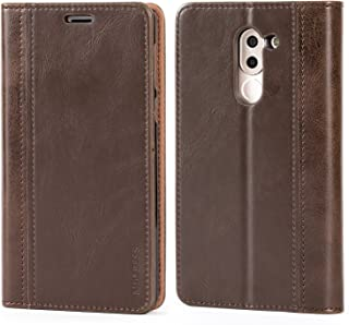 Huawei Honor 6X Case,Mulbess BookStyle Leather Wallet Case Cover with Kick Stand for Huawei Honor 6X,Chocolate Brown
