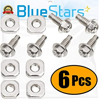 Ultra Durable 279393 Dryer Screw Replacement Part by Blue Stars - Exact Fit for Whirlpool Kenmore Dryers - Replaces 279393D 279393VP AP3020386 - Pack of 6