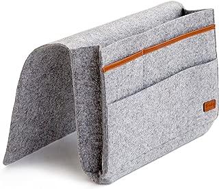 Kenley Bedside Caddy - Bed Skirt Storage Pocket Organizer for Bedroom, College Dorm Room, Bunk or Loft Beds, Sofa - Under Mattress Holder Bag 9