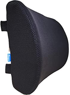 DEEPIN Lumbar Support Pillow - 100% Memory Foam Back with Breathable and Washable 3D Mesh Cover,Ideal Back Pillow for Car Seat, Computer/Office Chair