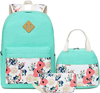 مجموعة حقائب الكتب المدرسية من CAMTOP حقيبة مدرسية للفتيات، 3 في 1، حقيبة ظهر للكمبيوتر المحمول، صندوق غداء، حقيبة أقلام
