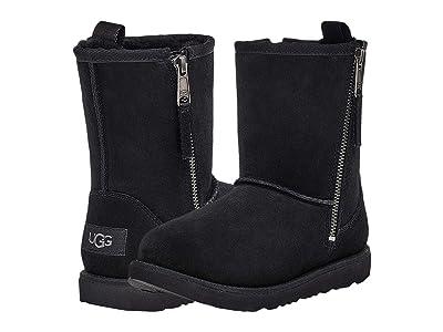 UGG Kids Classic Dual Zip Boot (Toddler/Little Kid/Big Kid) (Black) Kids Shoes