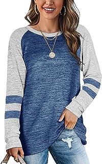 Womens Casual Crewneck Sweatshirts Long Sleeve Tunic Tops To Wear With Leggings