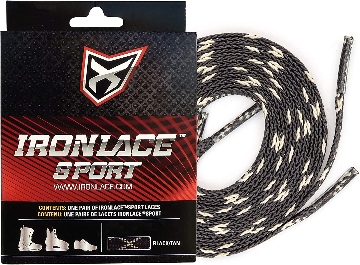 """LOT OF 2 54/"""" IRONLACE Unbreakable Extra Heavy Duty Black Work Boot Laces."""