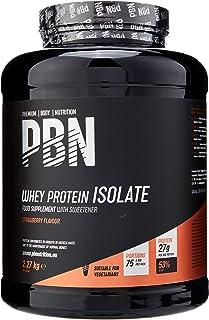 Premium Body Nutrition - Aislado de proteína de suero de leche en polvo (Whey-ISOLATE), 2,27 kg, sabor fresa (75 porciones)