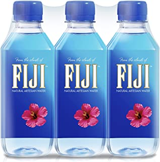 FIJI Natural Artesian Water, 11.15 Fl Oz Bottle (6-Pack) | Natural Electrolytes | BPA Free 330mL Bottle | Earth's Finest Water | Perfect for kids, events and offices