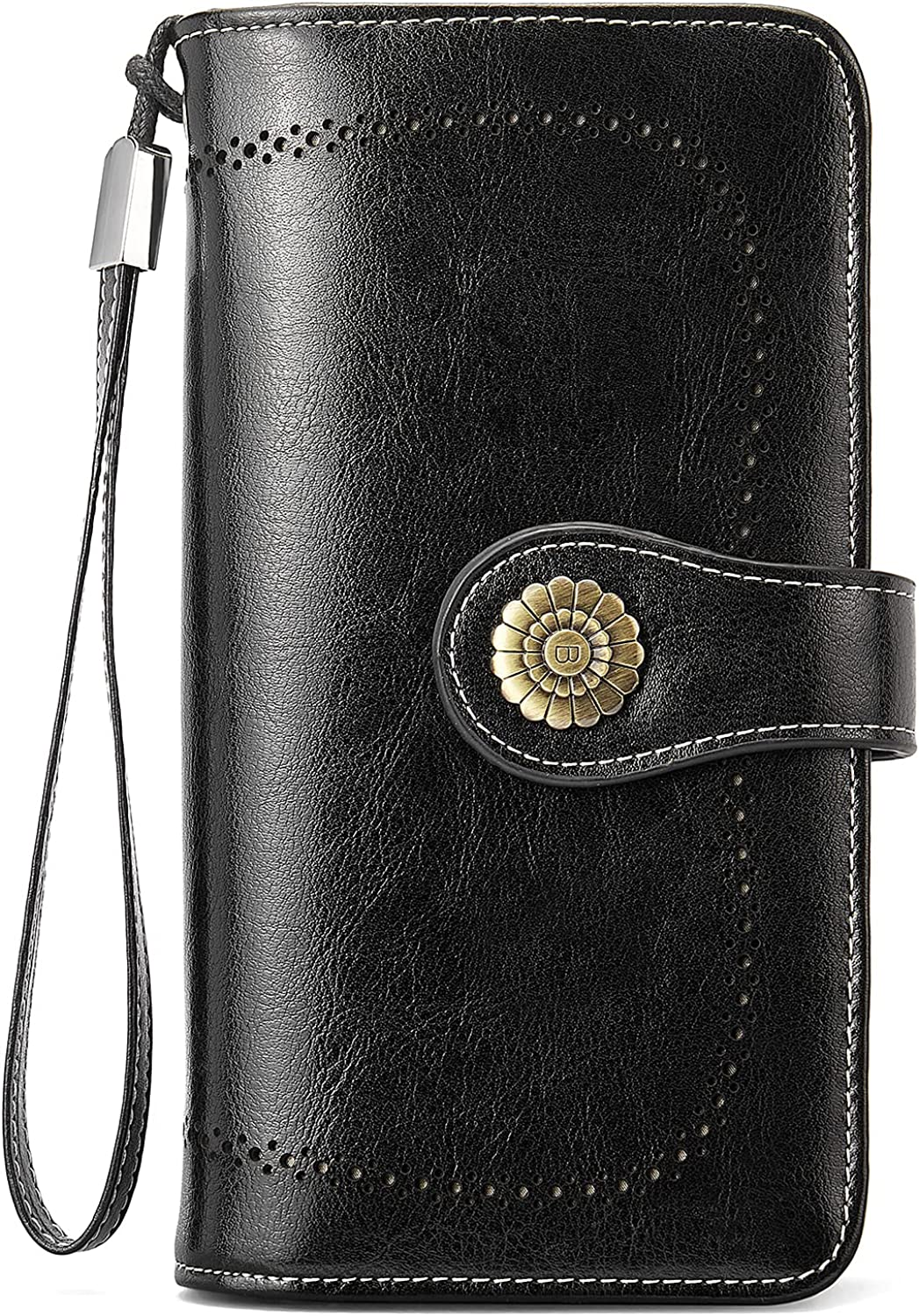 Ranking TOP16 BOSTANTEN Womens Wallet Genuine Capacity Leather Large Wristlet 67% OFF of fixed price