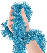 Treasures Gifted Christmas Tree Light Blue Tinsel Garland Metallic Streamers Mermaid Frozen Birthday Celebrate a Holiday Happy New Years Eve Party Indoor and Outdoor Disco Decorations Supplies