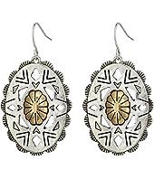 The Sak - Oval Concho Drop Earrings