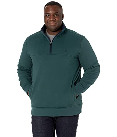 Nautica Big & Tall Big Tall 1/4 Zip Fleece (Bayou Green) Men