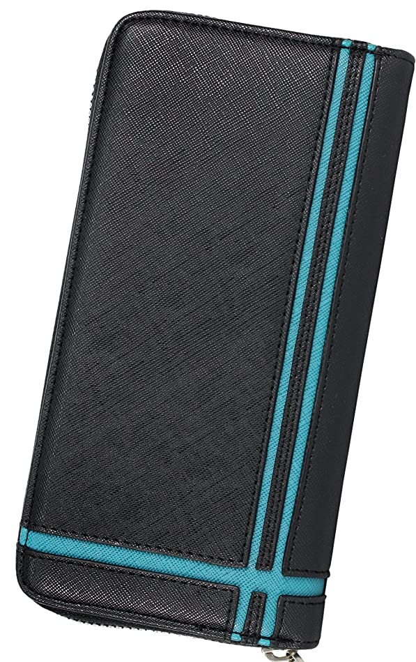 マサッチョ飼い慣らす貨物財布 メンズ レディース 長財布 Wライン 切り替え ラウンドファスナー DL-1038